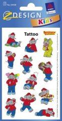 Avery Zweckform Z-Design No. 54428 öntapadó tetoválás matrica - Benjámin elefánt mintákkal - kiszerelés: 1 ív / csomag (Avery Z-Design 54428)