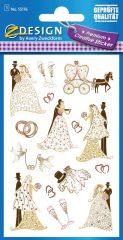 Avery Zweckform Z-Design No. 55176 prémium minőségű, öntapadó papír matrica - esküvői motívumokkal - kiszerelés: 1 ív / csomag (Avery Z-Design 55176)