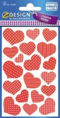 Avery Zweckform Z-Design No. 55595 öntapadó papír matrica szívek képekkel.