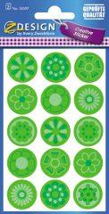 Avery Zweckform Z-Design No. 55597 öntapadó papír matrica zöld virágok képekkel.