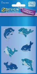 Avery Zweckform Z-Design No. 55692 csillogó varázslatos matrica - kék delfin mintával - kiszerelés: 1 ív / csomag (Avery Z-Design 55692)