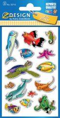 Avery Zweckform Z-Design No. 55712 papír matrica tengeri élőlény motívumokkal - 3 ív / csomag (Avery Z-Design 55712)