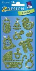 Avery Zweckform Z-Design No. 55807 csillogó fémhatású matrica gyermek születése motívumokkal - 1 ív / csomag (Avery Z-Design 55807)