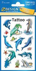 Avery Zweckform Z-Design No. 56439 öntapadó tetoválás matrica delfinek és tengeri állatok.