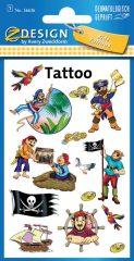 Avery Zweckform Z-Design No. 56636 öntapadó tetoválás matrica - kalózok motívumokkal - kiszerelés: 1 ív / csomag (Avery Z-Design 56636)