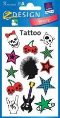 Avery Zweckform Z-Design No. 56653 tattoo (tetoválás) matrica punk motívumokkal - 1 ív / csomag (Avery Z-Design 56653)