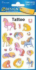 Avery Zweckform Z-Design No. 56681 öntapadó tetoválás matrica színes lovak motívumokkal.