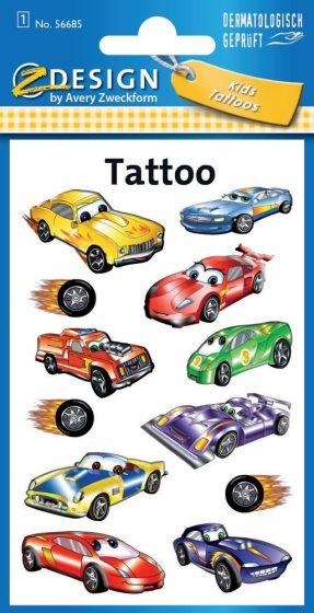 Avery Zweckform Z-Design No. 56685 öntapadó tetoválás matrica versenyautók motívumokkal.