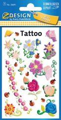 Avery Zweckform Z-Design No. 56691 öntapadó tetoválás matrica színes virágok motívumokkal.