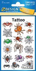 Avery Zweckform Z-Design No. 56693 öntapadó tetoválás matrica tréfás pókok motívumokkal.