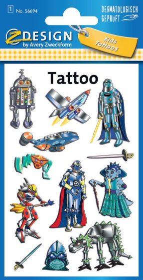 Avery Zweckform Z-Design No. 56694 öntapadó tetoválás matrica - különféle űrlények motívumokkal - kiszerelés: 1 ív / csomag (Avery Z-Design 56694)