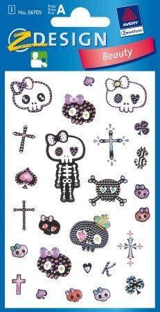 Avery Zweckform Z-Design No. 56705 öntapadó dekorációs matrica - csontváz és koponya motívumokkal - kiszerelés: 1 ív / csomag (Avery Z-Design 56705)