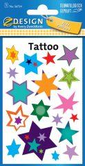 Avery Zweckform Z-Design No. 56734 öntapadó tetoválás matrica színes csillagok motívumokkal.