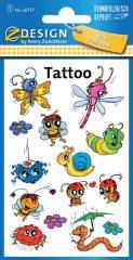 Avery Zweckform Z-Design No. 56737 öntapadó tetoválás matrica tréfás állatkák motívumokkal.