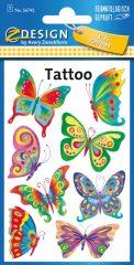 Avery Zweckform Z-Design No. 56742 öntapadó tetoválás matrica színes pillangók motívumokkal.
