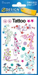 Avery Zweckform Z-Design No. 56749 öntapadó tetoválás matrica kúszó indák motívumokkal.
