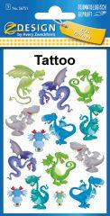 Avery Zweckform Z-Design No. 56751 öntapadó tetoválás matrica vicces sárkányok motívumokkal.