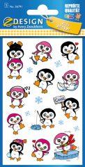 Avery Zweckform Z-Design No. 56791 öntapadó fémhatású matrica pingvines képekkel.