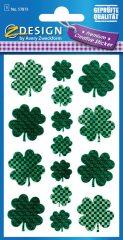 Avery Zweckform Z-Design No. 57873 öntapadó fólia matrica - zöld lóherék képekkel - kiszerelés: 1 ív / csomag (Avery Z-Design 57873)