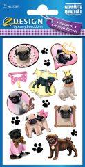 Avery Zweckform Z-Design No. 57875 prémium minőségű, öntapadó papír matrica - vicces kutyák motívumokkal - kiszerelés: 1 ív / csomag (Avery Z-Design 57875)