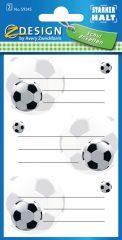 Avery Zweckform Z-Design No. 59245 öntapadó füzet matrica focilabdás motívumokkal.