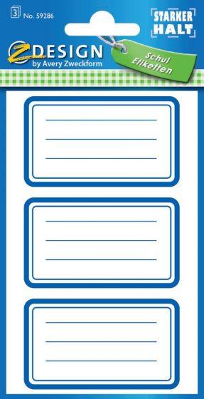 Avery Zweckform Z-Design No. 59286 öntapadó füzet matrica kék színű kerettel.