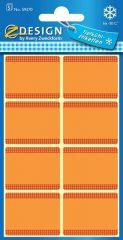 Avery Zweckform Z-Design No. 59370 papír matrica fagyasztott termékek feliratozására, megjelölésére - narancssárga színben - kiszerelés: 5 ív / csomag (Avery Z-Design 59370)