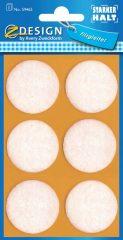 Avery Zweckform Z-Design No. 59465 öntapadó filcalátét kényes felületek védelmére - 35 mm átmérőjű, 3,5 mm magasságú - kiszerelés: 6 darab / csomag (Avery Z-Design 59465)