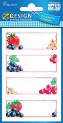 Avery Zweckform Z-Design No. 59550 papír matrica befőttes üvegre - gyümölcs mintával és színes kerettel - kiszerelés: 3 ív / csomag (Avery Z-Design 59550)