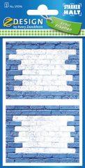 Avery Zweckform Z-Design No. 59596 öntapadó füzet matrica kék színű téglafal motívumokkal.