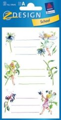 Avery Zweckform Z-Design No. 59645 papír matrica iskolai füzetekre - virágtündérek motívumokkal - kiszerelés: 3 ív / csomag (Avery Z-Design 59645)