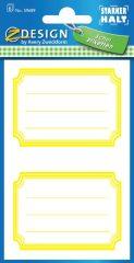 Avery Zweckform Z-Design No. 59689 öntapadó füzet matrica sárga színű kerettel.