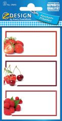 Avery Zweckform Z-Design No. 59692 papír matrica befőttes üvegre - földieper, cseresznye, málna képekkel - kiszerelés: 3 ív / csomag (Avery Z-Design 59692)