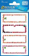 Avery Zweckform Z-Design No. 59693 papír matrica befőttes üvegre - földieper, cseresznye, málna képekkel - kiszerelés: 3 ív / csomag (Avery Z-Design 59693)
