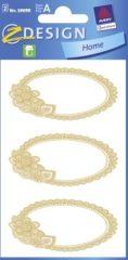 Avery Zweckform Z-Design No. 59698 papír matrica befőttes üvegre - dombornyomott arany kerettel - kiszerelés: 2 ív / csomag (Avery Z-Design 59698)
