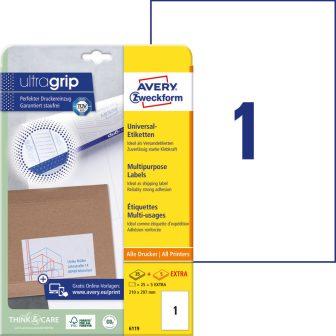 Avery Zweckform 6119 öntapadós etikett címke