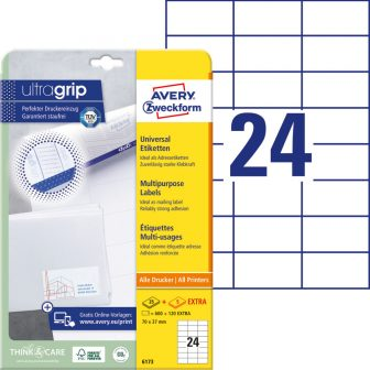 Avery Zweckform 6173 öntapadós etikett címke