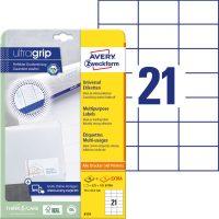 Avery Zweckform 6174 öntapadós etikett címke