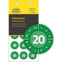 Avery Zweckform 6943-2020 felülvizsgálati címke 2020-as évszámmal