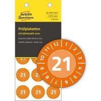Avery Zweckform 6943-2021 felülvizsgálati címke 2021-es évszámmal
