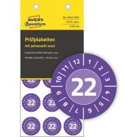 Avery Zweckform 6943-2022 felülvizsgálati címke 2022-es évszámmal