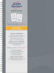 Avery Zweckform Notizio No. 7013 négyzethálós spirálfüzet A4-es méretben, világosszürke színű karton borítóval (Avery 7013)