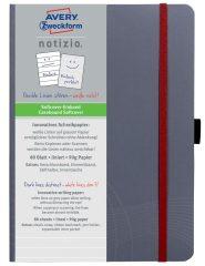 Avery Zweckform Notizio No. 7018 vonalas kötött füzet A5-ös méretben, szürke színű puhafedeles borítóval (Avery 7018)