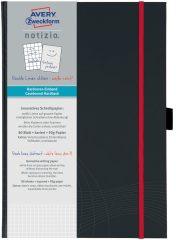Avery Zweckform Notizio No. 7029 négyzethálós kötött füzet A4-es méretben, sötétszürke színű keményfedeles borítóval (Avery 7029)