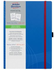 Avery Zweckform Notizio No. 7045 négyzethálós kötött füzet A4-es méretben, kék színű puhafedeles borítóval (Avery 7045)