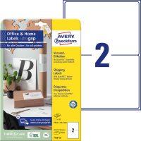Avery Zweckform 199,6 x 143,5 mm méretű, fehér színű nyomtatható öntapadós etikett címke