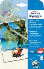 Avery Zweckform No. C2495-45R tintasugaras 130 x 180 mm méretű, 230 g -os különleges minőségű magasfényű fotópapír - 45 ív / doboz (Avery C2495-45R)