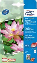 Avery Zweckform No. C2553-40 tintasugaras 100 x 150 mm (A6) méretű, 300 g -os prémium minőségű magasfényű fotópapír - 40 ív / csomag (Avery C2553-40)