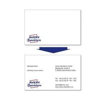 Avery Zweckform C32006-500 névjegykártya sima élekkel