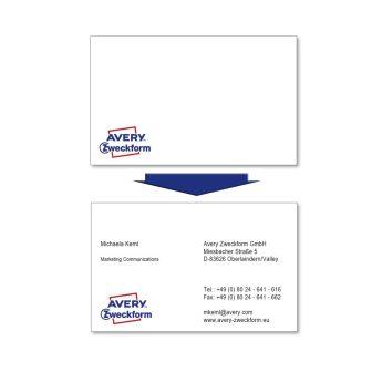 Avery Zweckform C32011-500 névjegykártya sima élekkel